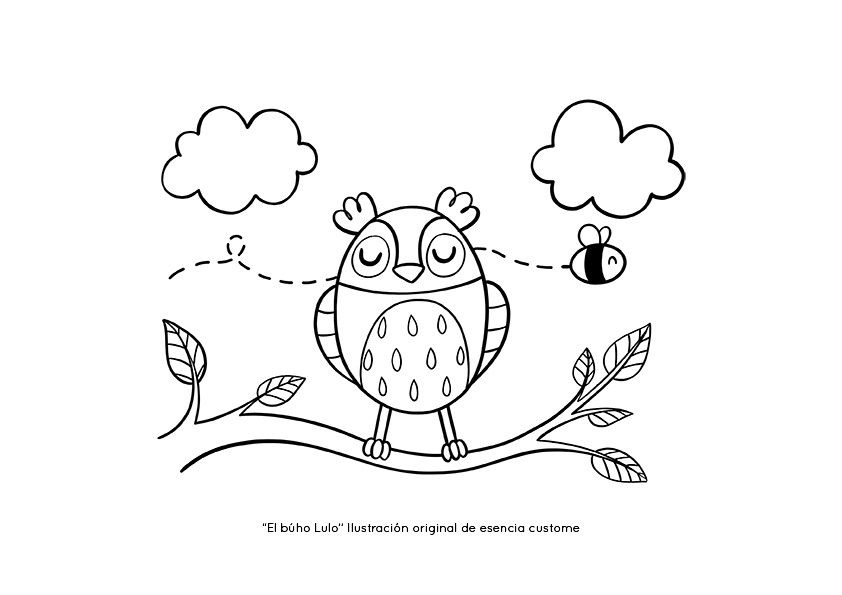 coloring page for kids esencia custome