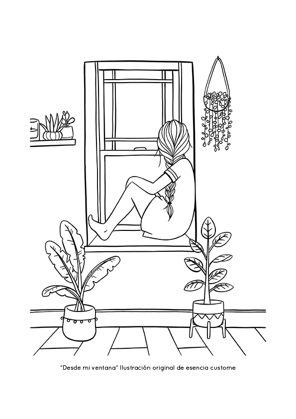 coloring page for adult esencia custome